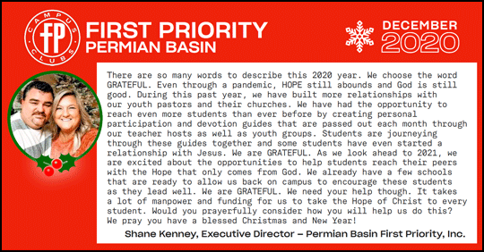 First Priority Permian Basin December 2020 News